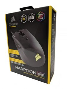 Harpoon gaming mouse packaging front