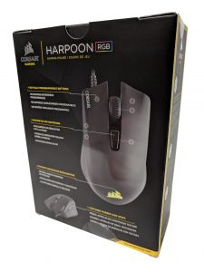 Harpoon gaming mouse packaging back