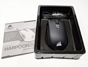 Corsair harpoon packaging with instructions