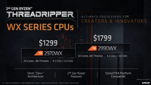 AMD Ryzen Threadripper WX-Series CPU