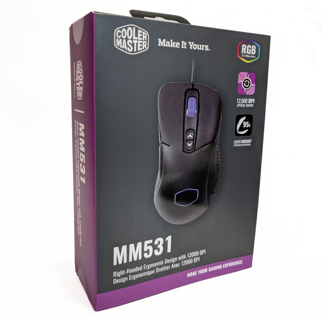 Cooler Master MM531 Gaming Mouse Box Front