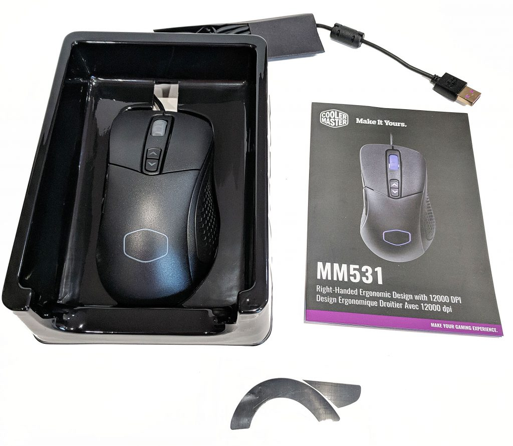 Cooler Master MM531 Gaming Mouse Box Inside