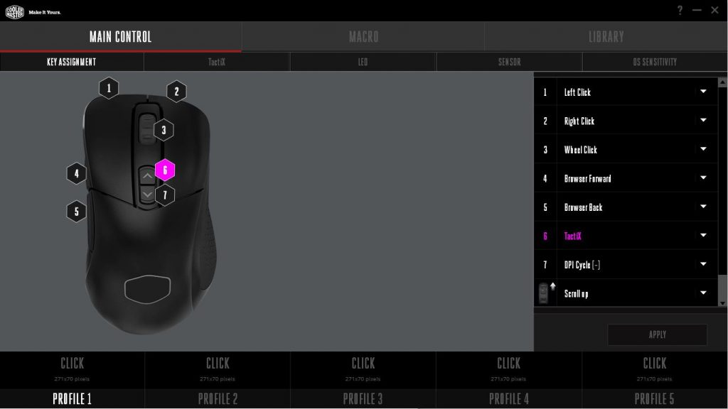 Cooler Master MM531 Main Control Software