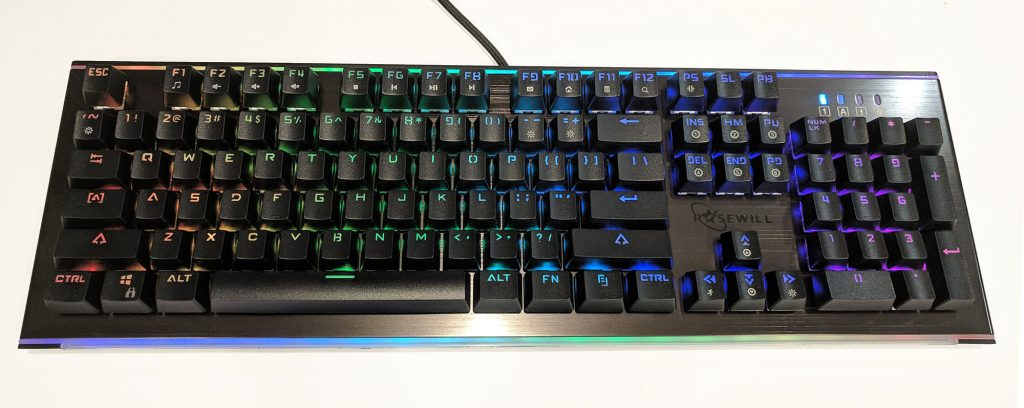 Rosewill NEON K75 RGB Mechanical Keyboard LEDs On