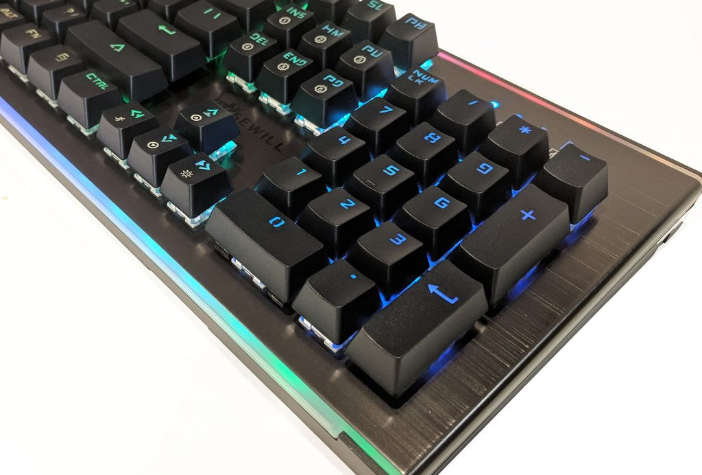 Rosewill NEON K75 RGB Mechanical Keyboard LED Side