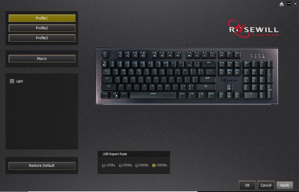 Rosewill NEON K75 RGB Mechanical Keyboard Software