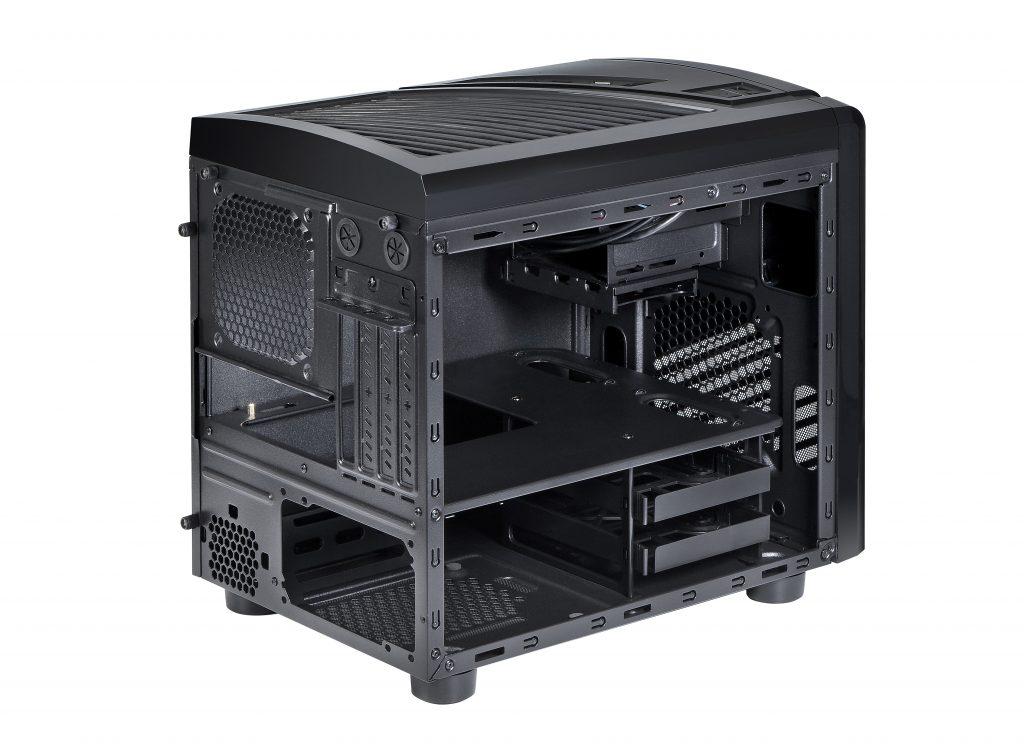 Spire PowerCube 1418 pc case back inside