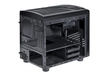 Spire PowerCube 1418 pc case back inside