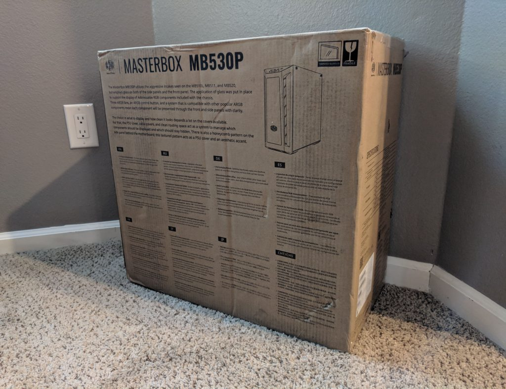 Cooler Master MasterBox MB530P Case Box Rear