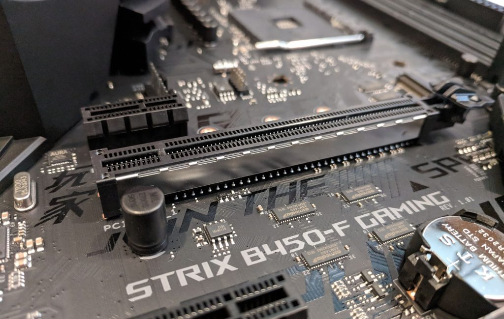 ASUS ROG STRIX B450-F Gaming Motherboard PCIE Connector