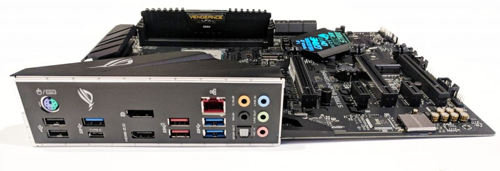 ASUS ROG STRIX B450-F Gaming Motherboard IO Whole