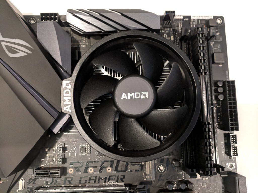 ASUS ROG STRIX B450-F Gaming Motherboard CPU Fan Installed