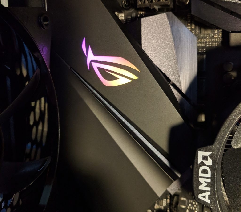 ASUS ROG STRIX B450-F Gaming Motherboard RGB LED Logo