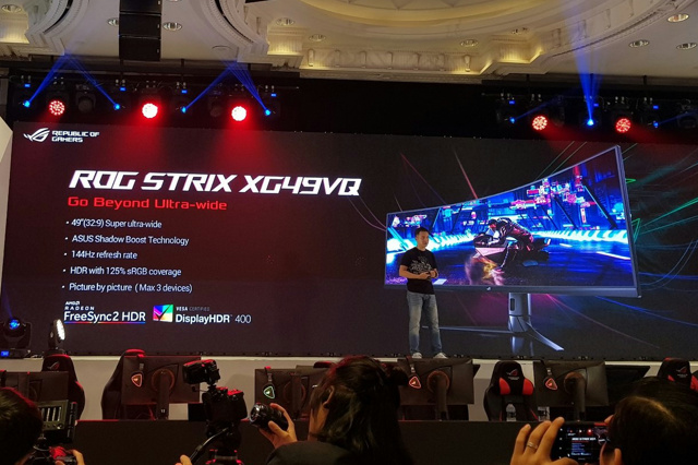 Asus Previews Rog Strix Xg49vq 49 Quot Curved Gaming Monitor