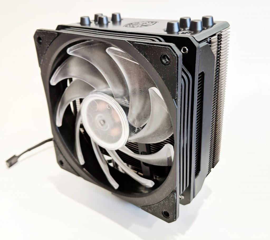 Cooler Master Hyper 212 RGB Black Edition CPU Cooler Front Angle