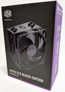 Cooler Master Hyper 212 Black Edition CPU Cooler Box Front