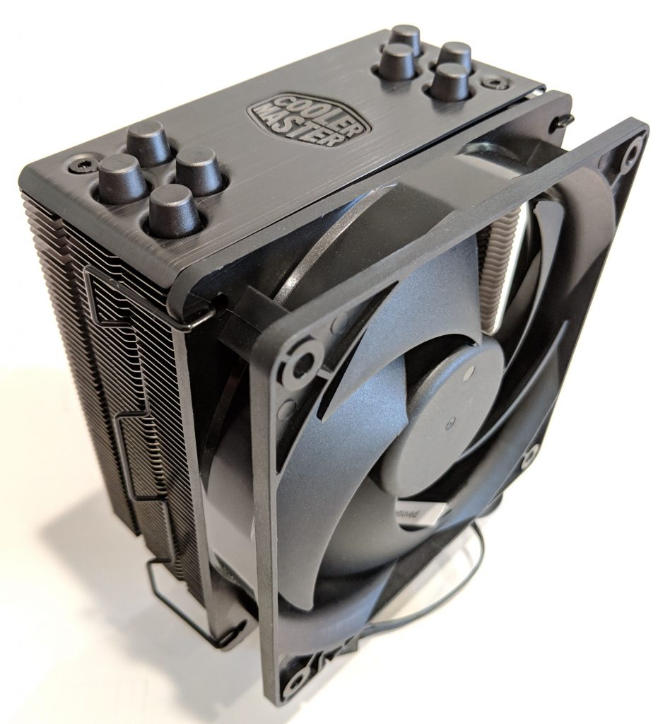 Cooler Master Hyper 212 Black Edition CPU Cooler Top Front