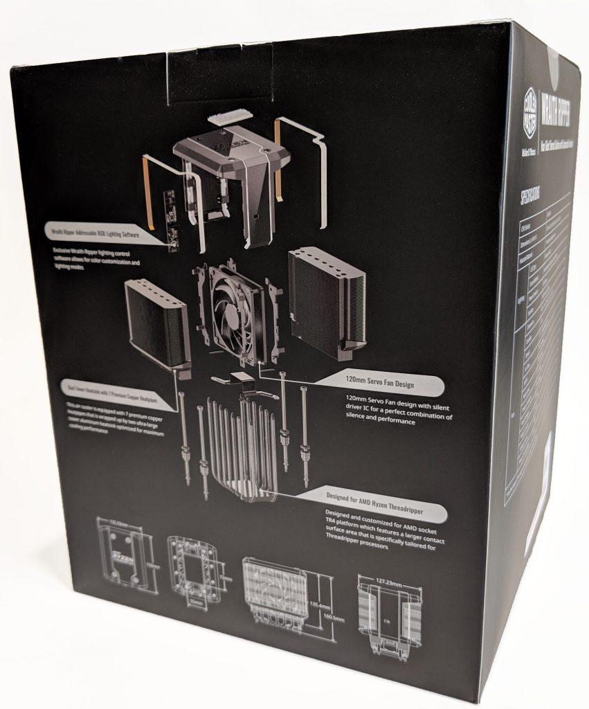 Cooler Master Wraith Ripper CPU Cooler AMD Box Back