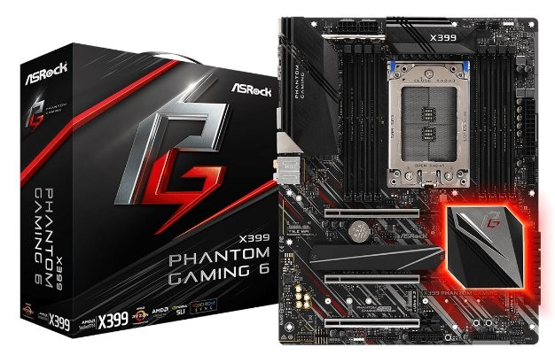 ASRock X399 Phantom Gaming 6 Motherboard Featured
