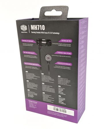 Cooler Master MH710 Earbuds Box Back