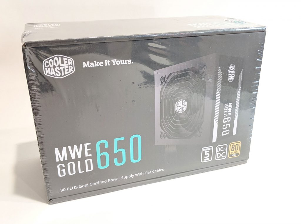 Cooler Master MWE Gold 650 PSU Wrapped Box