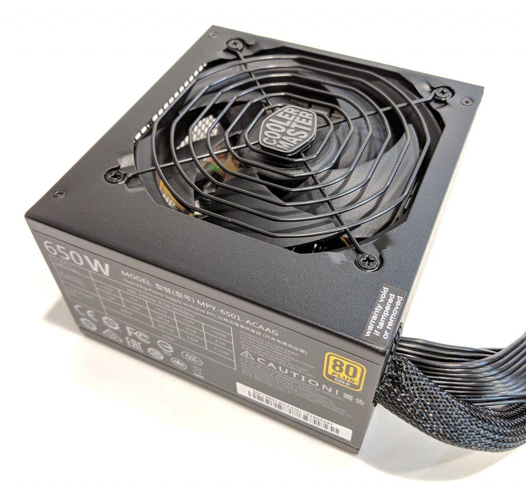 Cooler Master MWE Gold 650 PSU Angle