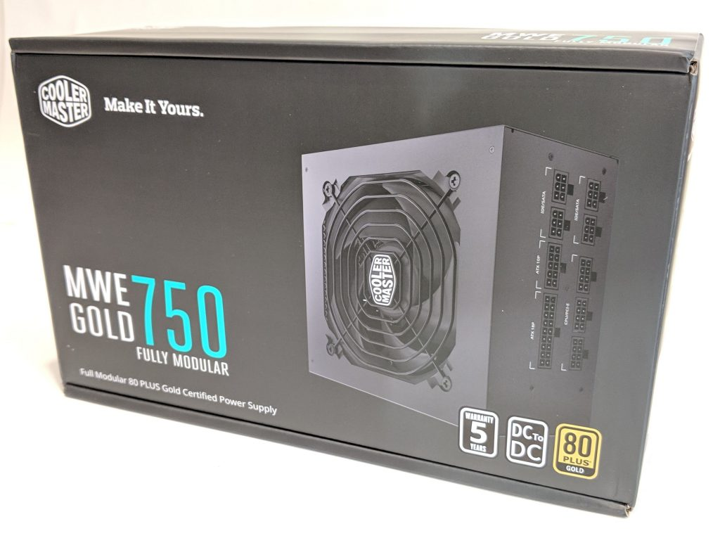 Cooler Master MWE Gold 750 PSU Box Front