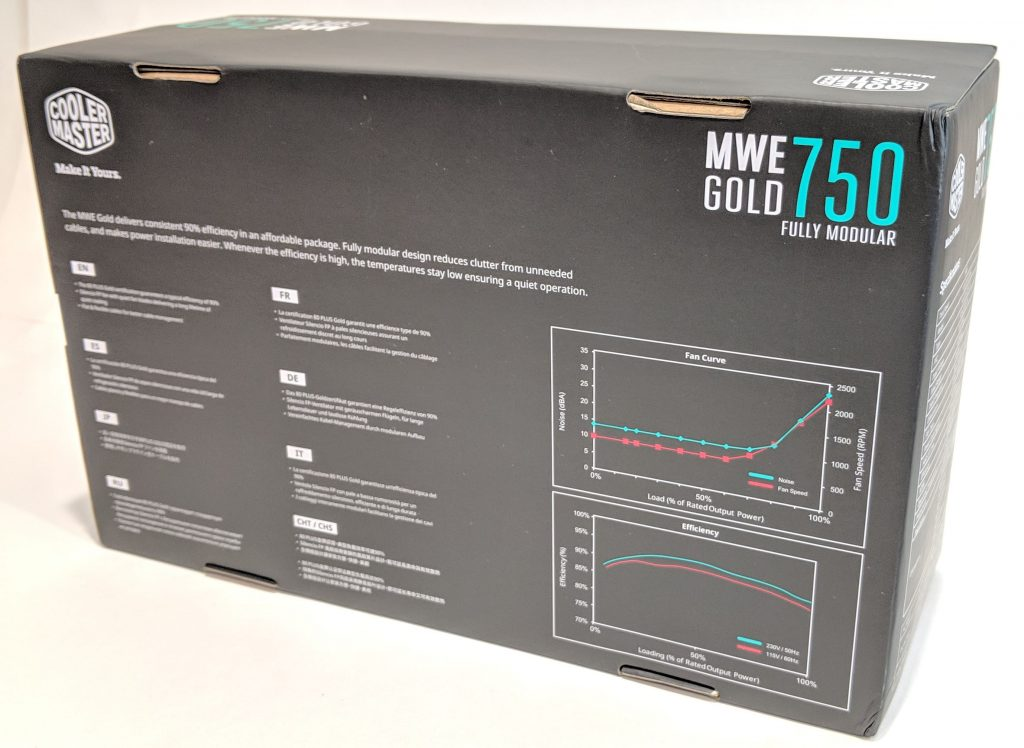 Cooler Master MWE Gold 750 PSU Box Back