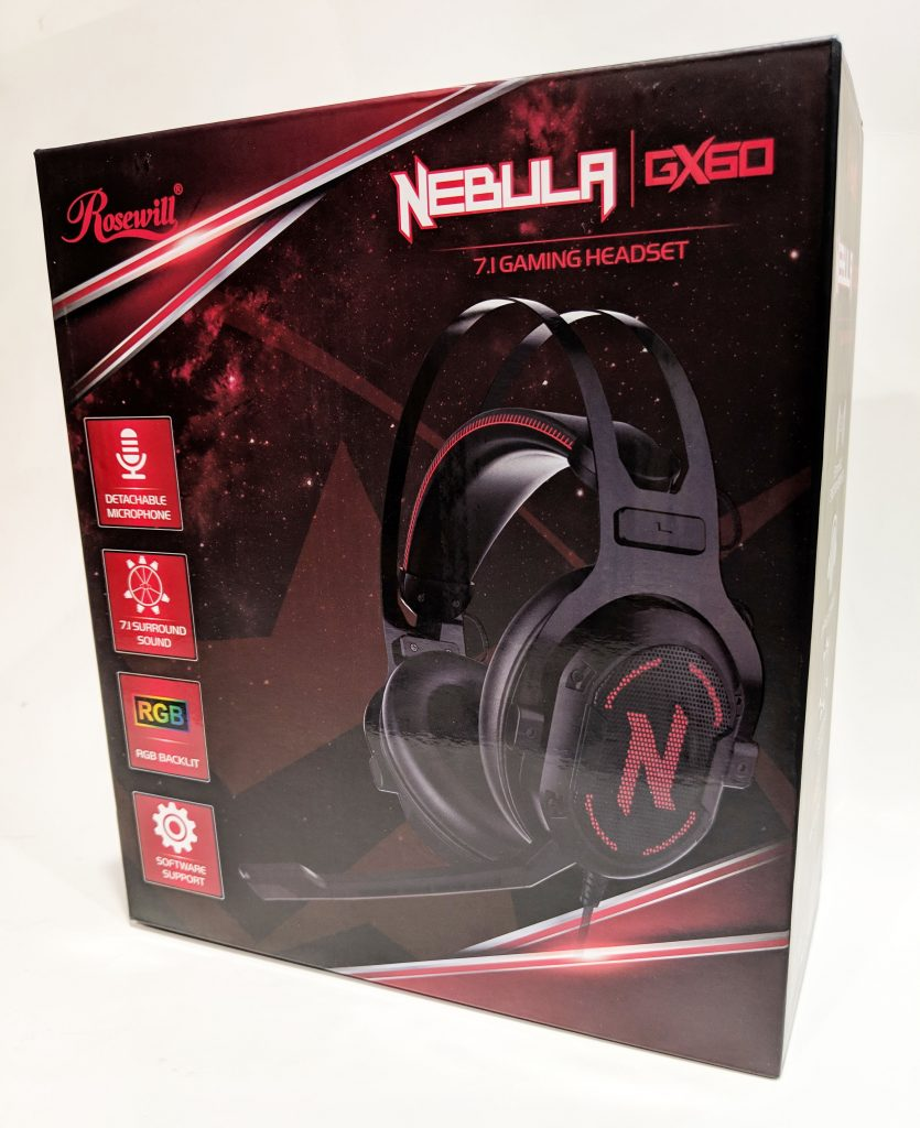 Rosewill Nebula GX60 Gaming Headset Box Front
