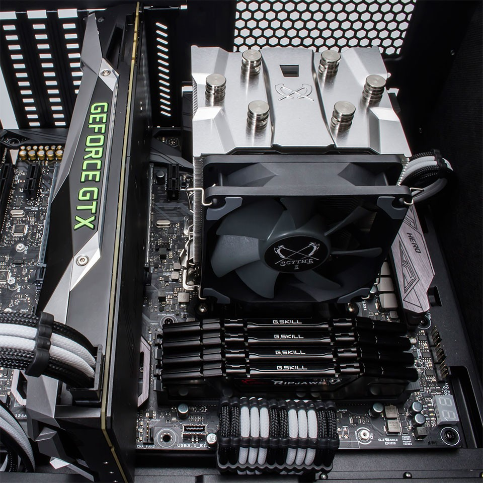 Sythe Katana 5 CPU Cooler Installed