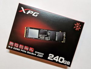ADATA XPG SX8200 SSD Box Front