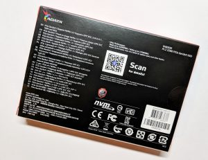 ADATA XPG SX8200 SSD Box Back