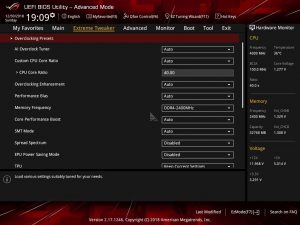AMD Ryzen Threadripper 1920X CPUZ 4.0GHz BIOS 1
