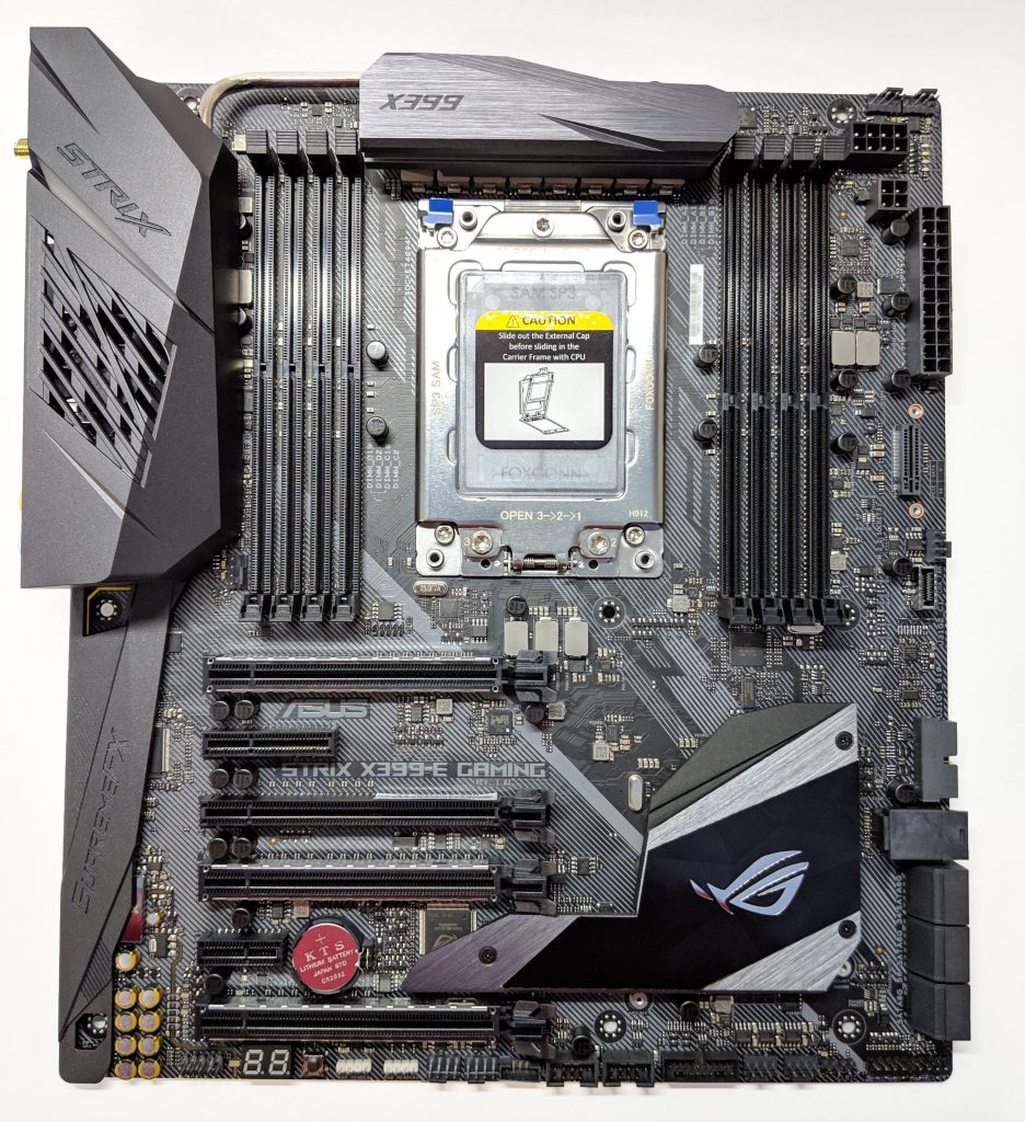 ASUS ROG Strix X399-E Gaming Motherboard Top