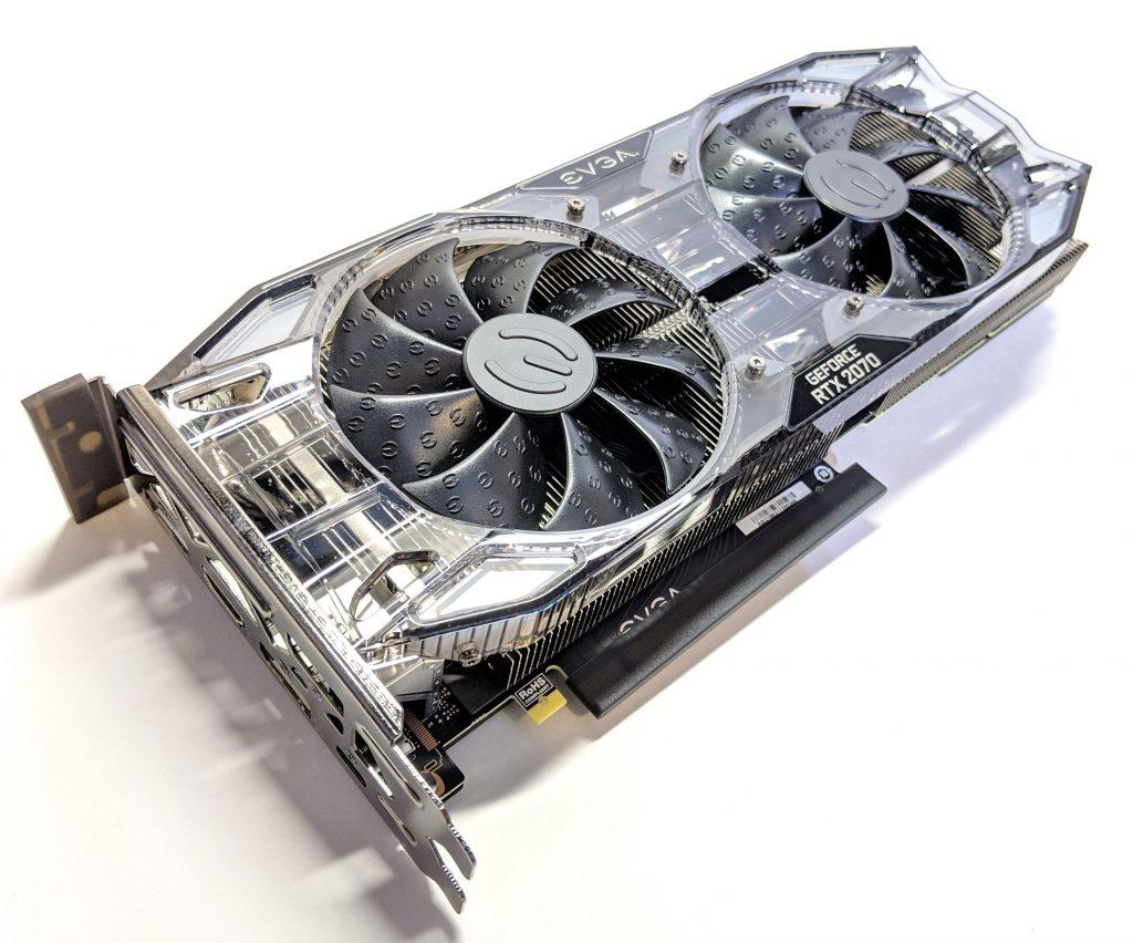 EVGA RTX 2070 XC GAMING GPU Angle