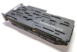 EVGA RTX 2070 XC GAMING Back Angle