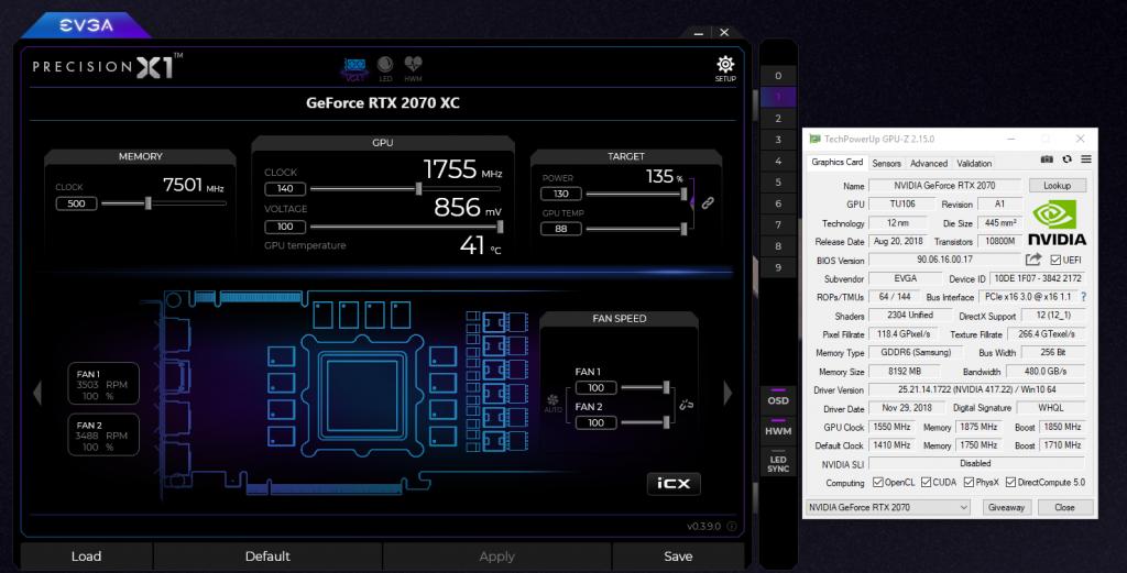 EVGA RTX 2070 XC Overclock