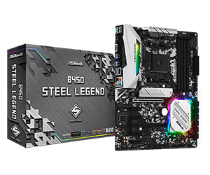 ASRock B450 Steel Legend Motherboard