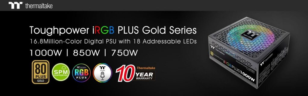 Thermaltake Toughpower iRGB PLUS Gold Series Power Supply Featured