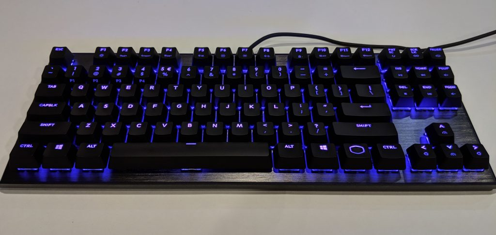 Cooler Master CK530 Keyboard RGB On