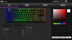 Cooler Master MK730 Tenkeyless Keyboard Software RGB Control