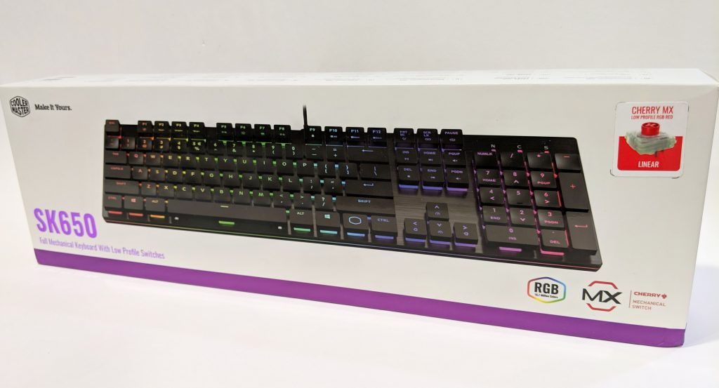 Cooler Master SK650 Keyboard Package Front