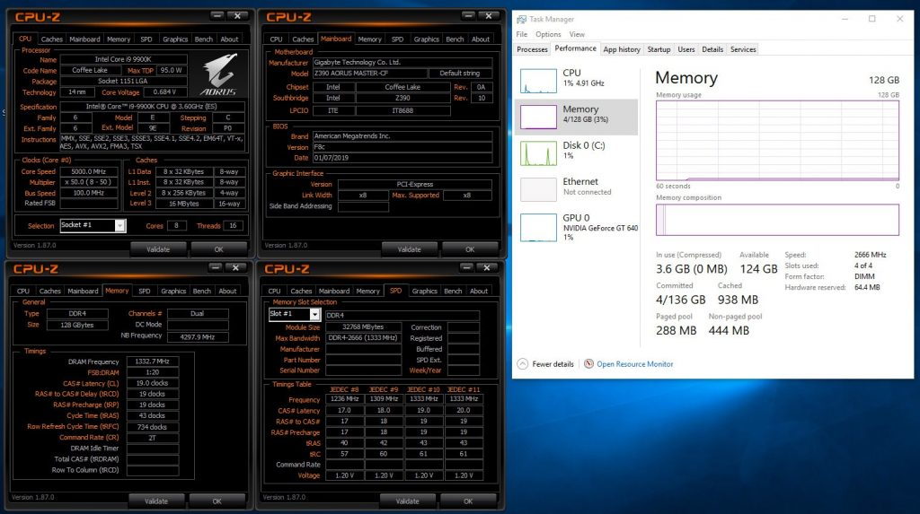 Gigabyte Z390 32GB Dimm Support