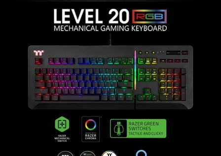 Thermaltake Level 20 RGB Keyboard Featured