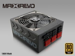 ENERMAX MAXREVO 1800W Power Supply Cable Ports Left