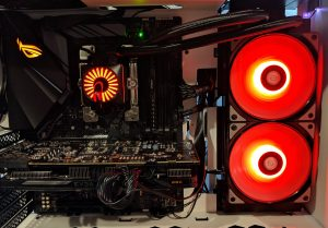 DeepCool Gamer Storm Captain 240 Pro Red Installed