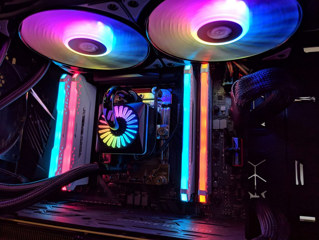 DeepCool Gamer Storm Captain 240 Pro Threadripper Installed