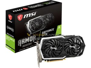 MSI ARMOR GTX 1660 Ti Graphics Card Box