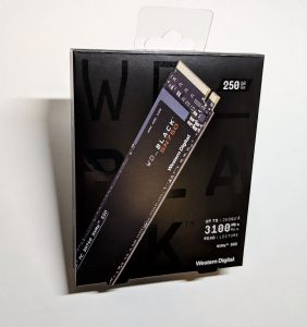 Western Digital WD Back SN750 SSD Box Front