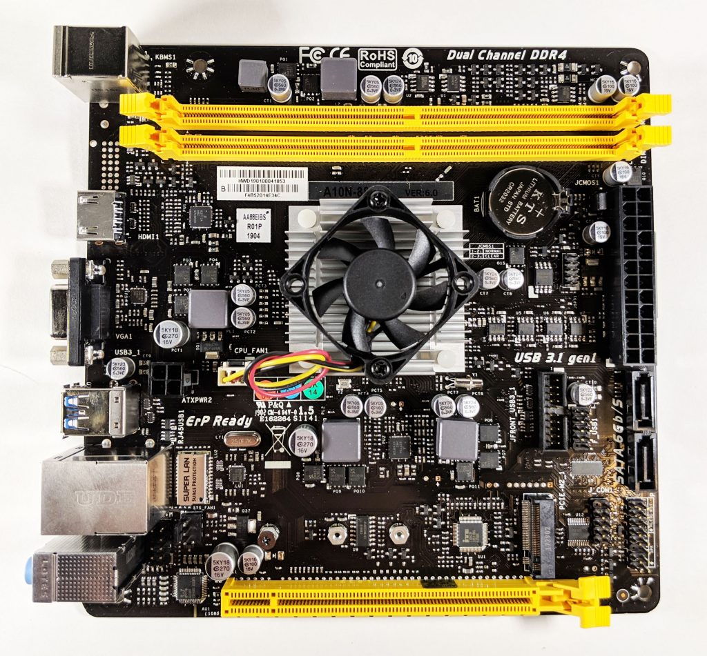 Biostar A10N-8800E Motherboard Front
